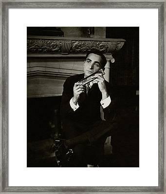 Portrait Of Irving Berlin Framed Print by Florence Vandamm
