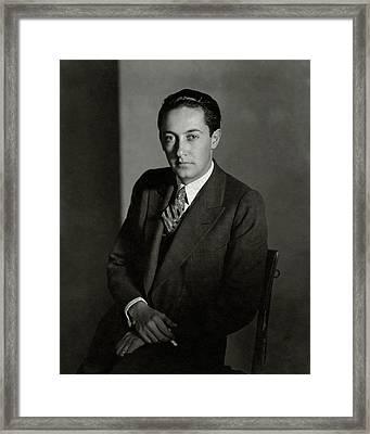 Portrait Of Irving Thalberg Framed Print