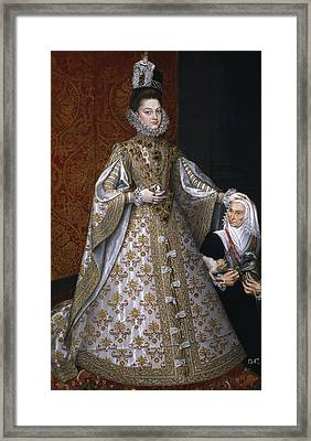 Portrait Of Isabel Clara Eugenia And Magdalena Ruiz Framed Print by Alonso Sanchez Coello