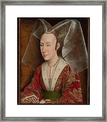 Portrait Of Isabella Of Portugal  Framed Print by Workshop of Rogier van der Weyden