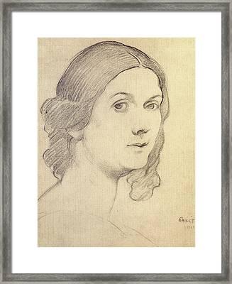 Portrait Of Isadora Duncan Framed Print by Leon Bakst