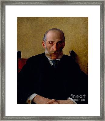 Portrait Of Isidor Gewitsch Framed Print by Celestial Images