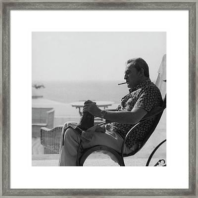 Portrait Of Italian Director Luchino Visconti Framed Print