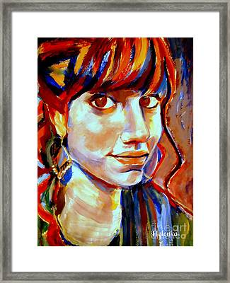 Portrait Of Ivana Framed Print by Helena Wierzbicki