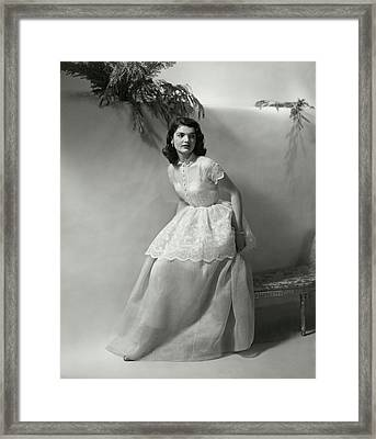 Portrait Of Jacqueline Kennedy Onassis Framed Print