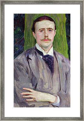 Portrait Of Jacques-emile Blanche Framed Print by John Singer Sargent