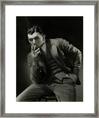 Portrait Of James J. Braddock Framed Print