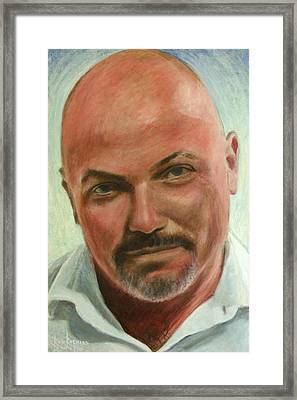 Portrait Of Jamez Ronald Prudlick Framed Print by Ron Richard Baviello