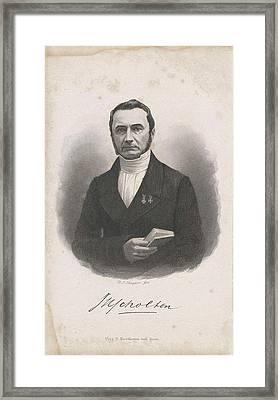 Portrait Of Jan Hendrik Scholten, Dirk Jurriaan Sluyter Framed Print by Dirk Jurriaan Sluyter And Dirk Noothoven Van Goor