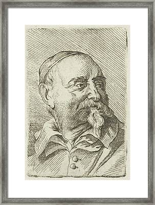 Portrait Of Jan Snellinck, Johannes Hari Framed Print