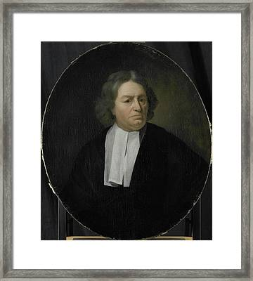 Portrait Of Jan Van Der Burgh, Director Of The Rotterdam Framed Print by Litz Collection