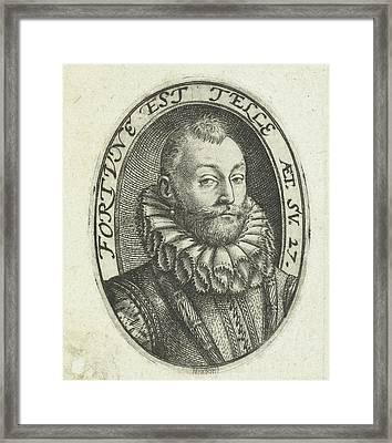 Portrait Of Jan Van Heussen , Hendrick Goltzius Framed Print