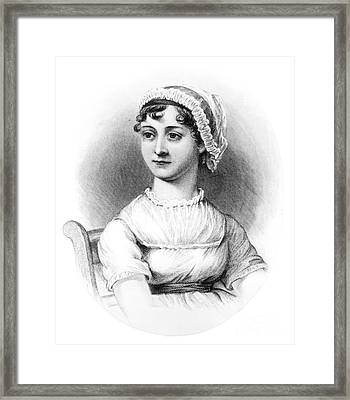Portrait Of Jane Austen Framed Print