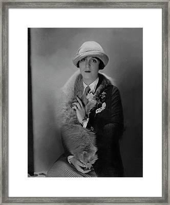 Portrait Of Jane Cowl In Easy Virtue Framed Print
