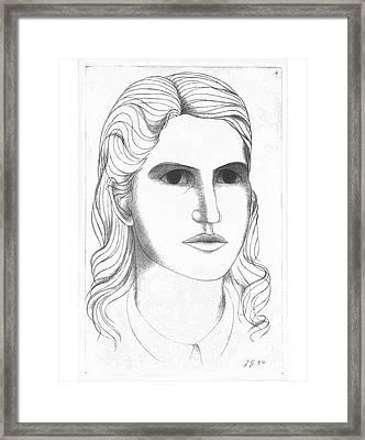 Portrait Of Janet - 1964 Framed Print