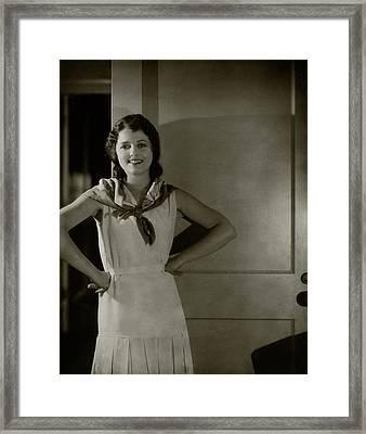 Portrait Of Janet Gaynor Framed Print by Edward Steichen