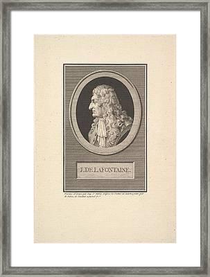 Portrait Of Jean De La Fontaine Framed Print