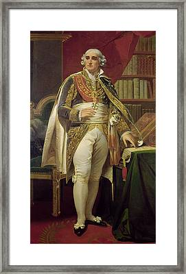 Portrait Of Jean-jacques-regis De Cambaceres 1753-1824 Oil On Canvas Framed Print by Henri-Frederic Schopin