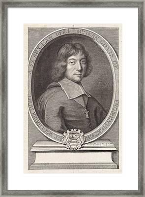 Portrait Of Jean Louis De Fromentires, Pieter Van Schuppen Framed Print