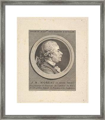 Portrait Of Jean-michel Moreau Framed Print
