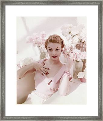 Portrait Of Jean Patchett Framed Print by John Rawlings