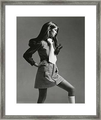 Portrait Of Jean Shrimpton Framed Print by Gianni Penati