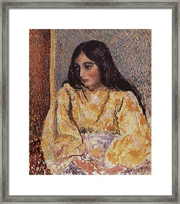 Portrait Of Jeanne, Circa 1893 Framed Print by Camille Pissarro