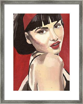 Framed Print featuring the painting Portrait Of Jenny Bauer by Stephen Panoushek