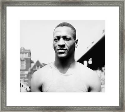 Portrait Of Jesse Owens Framed Print by Underwood Archives