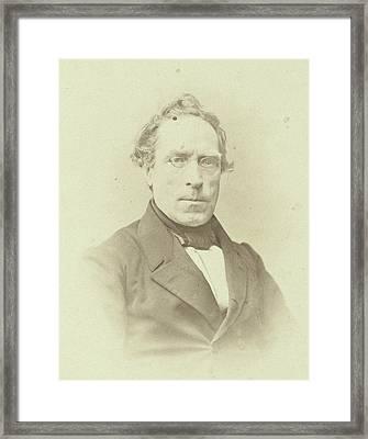 Portrait Of J.j.p. Valeton, Professor In The Faculty Framed Print