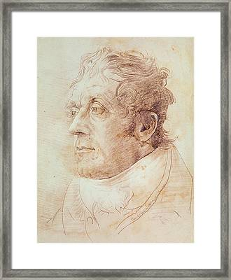 Portrait Of Jmw Turner Framed Print by Cornelius Varley