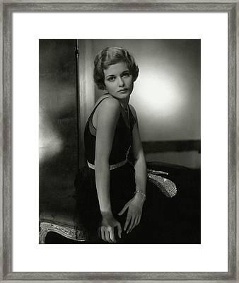 Portrait Of Joan Bennett Framed Print by Edward Steichen