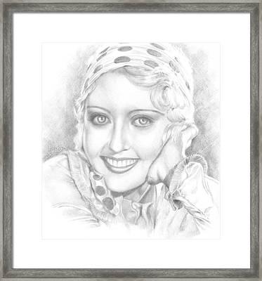 Portrait Of Joan Blondell Framed Print