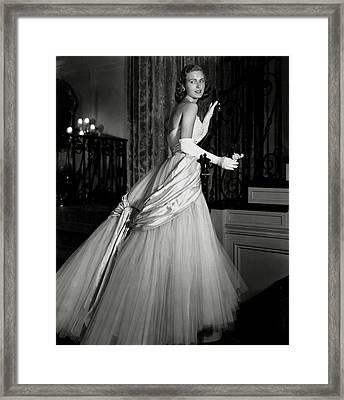 Portrait Of Joan Peterkin Framed Print by Horst P. Horst