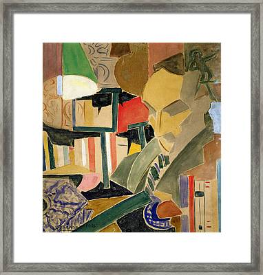 Portrait Of Joan Salvat-papasseit  Framed Print