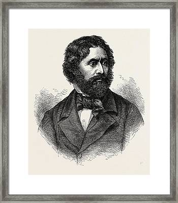 Portrait Of John Charles Fremont, He Was An American Framed Print by American School