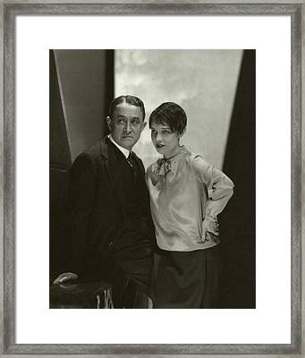 Portrait Of John Emerson And Anita Loos Framed Print