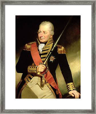 Portrait Of John Jervis First Earl Framed Print