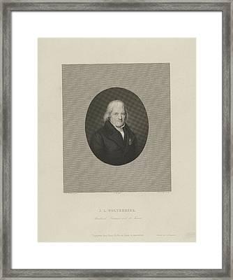 Portrait Of John Leonard Wolterbeek, Johannes Philippus Framed Print by Johannes Philippus Lange And J.f. Brugman And Frans Buffa En Zonen