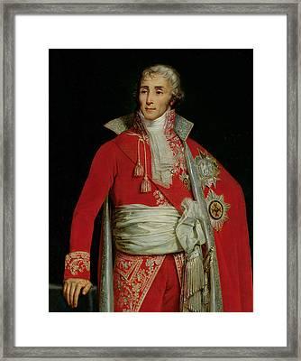 Portrait Of Joseph Fouche Duke Of Otranto Framed Print by Edouard Louis Dubufe
