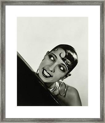 Portrait Of Josephine Baker Framed Print