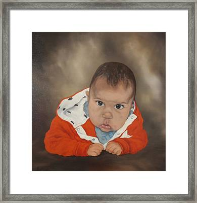 Framed Print featuring the painting Portrait Of Joshua by Jean Walker