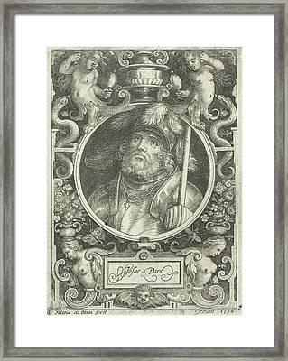 Portrait Of Joshua, Medallion, Nicolaes De Bruyn Framed Print by Nicolaes De Bruyn