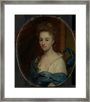 Portrait Of Josina Clara Van Citters, 1671-1753 Framed Print by Litz Collection