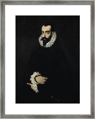 Portrait Of Juan Alfonso De Pimentel Y Herrera, 8th Conde De Benavente D.1621 Framed Print