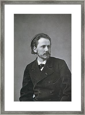 Portrait Of Jules Emile Massenet Framed Print by French Photographer