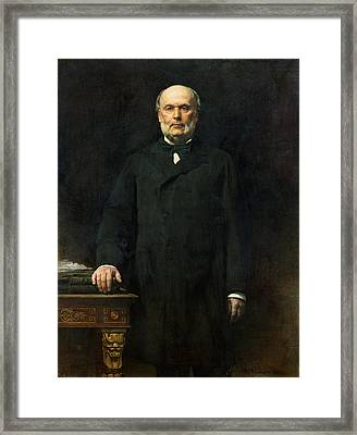Portrait Of Jules Grevy 1807-91 1880 Oil On Canvas Framed Print by Leon Joseph Florentin Bonnat