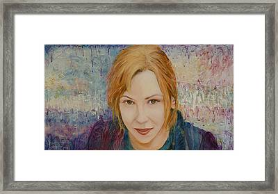 Portrait Of Kat Magda Framed Print by Ron Richard Baviello