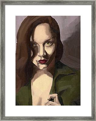 Portrait Of Katelind Framed Print