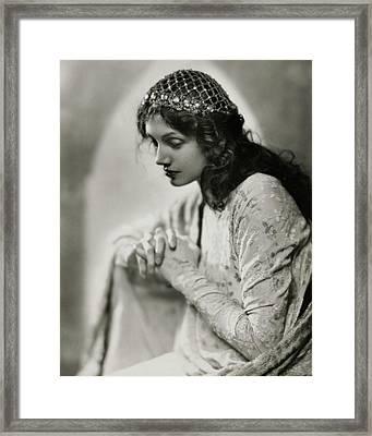 Portrait Of Katharine Cornell Framed Print by Nickolas Muray